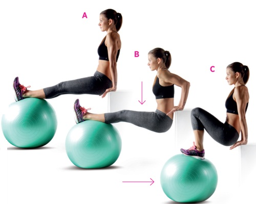 Triceps-Dips-with-Feet-on-a-Ball