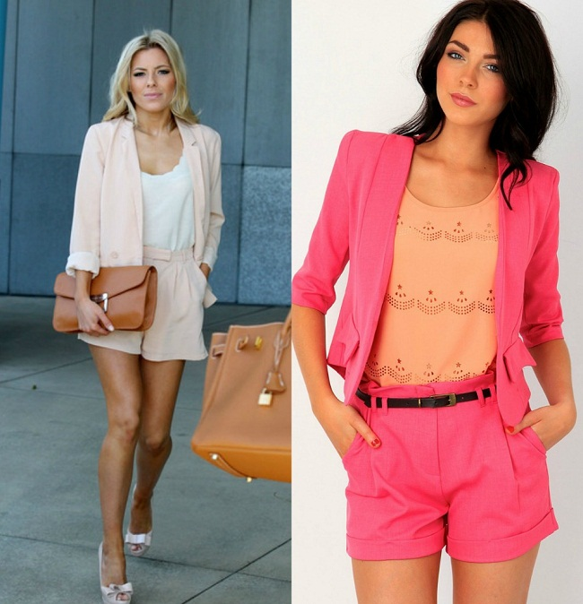Pink Shorts-Suits