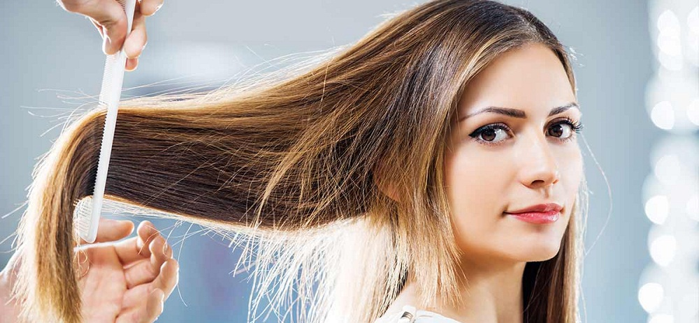 Brush your Hair properly to stop split ends
