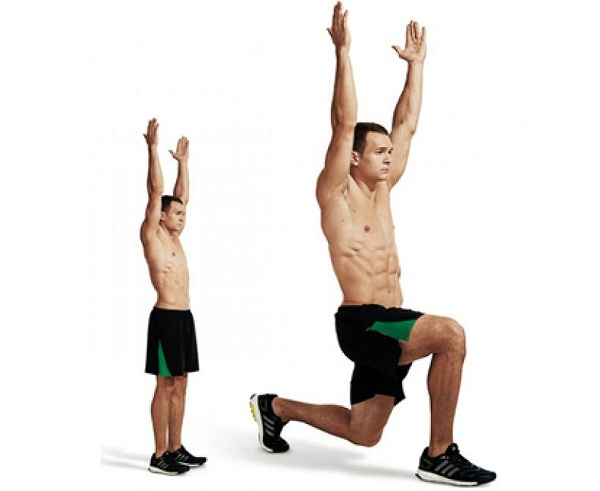 body-weight lunges