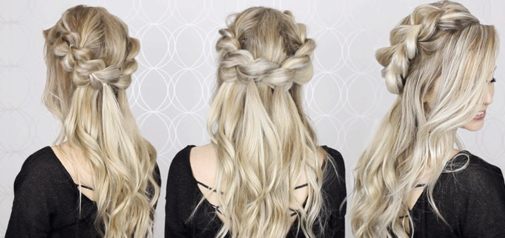 Easy Braided Half-Crown Hairstyle