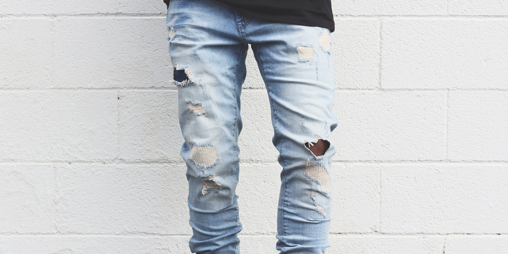 Ripped and Scratched Jeans
