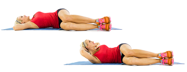 Side Crunch for six pack abs in week