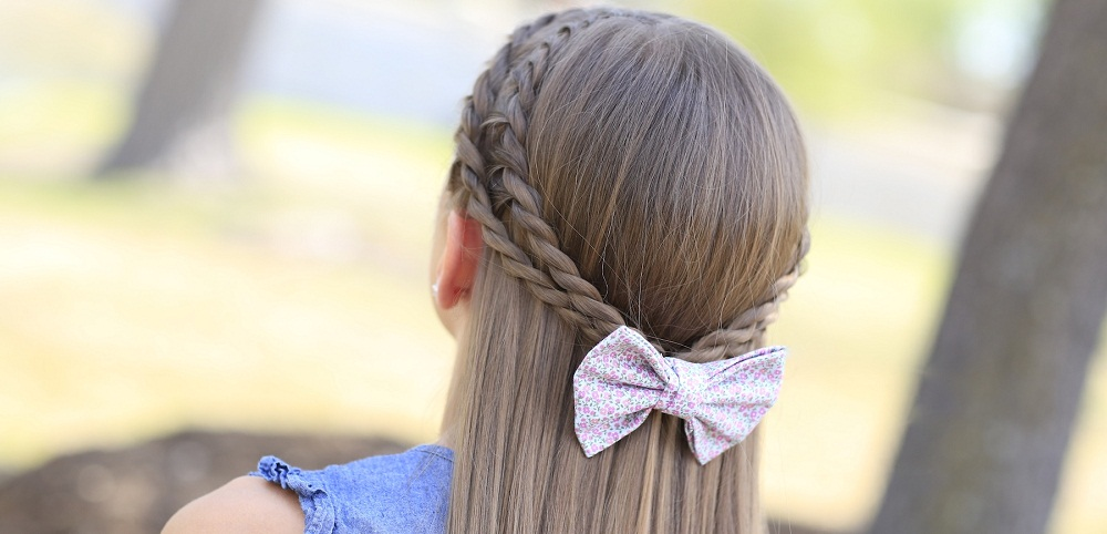 Simple Tie-Back Hairstyle