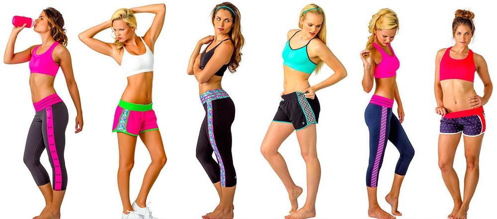 Popular women's activewear brands