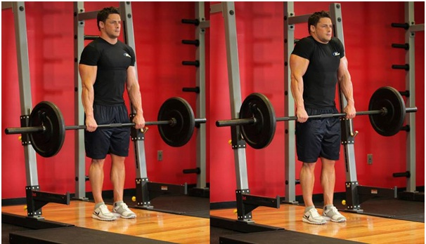 Barbell Shrug - Neck and shoulder pain exercises