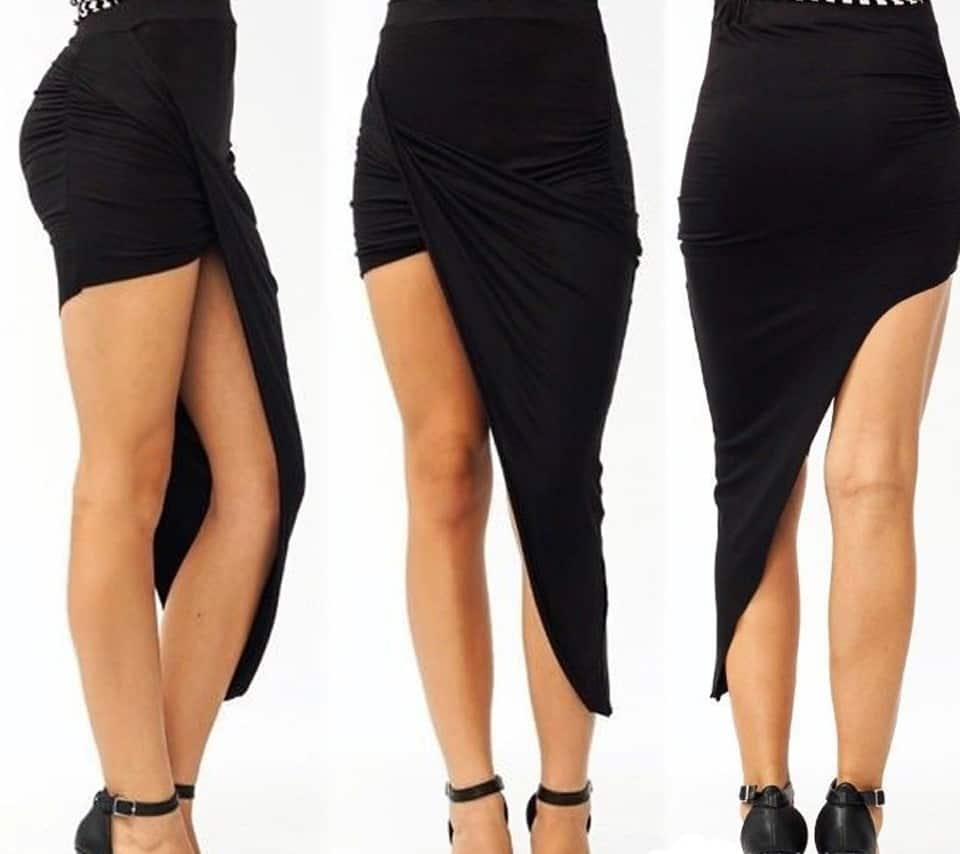 Skirt with High Side Slits