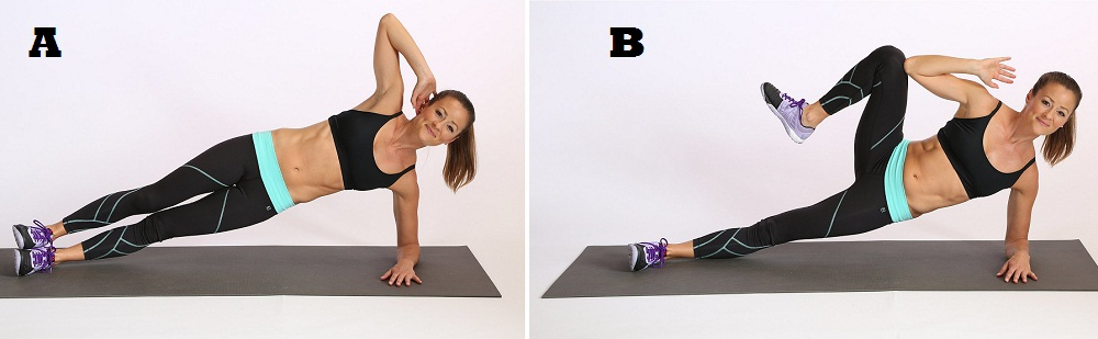 Side Plank With Crunch