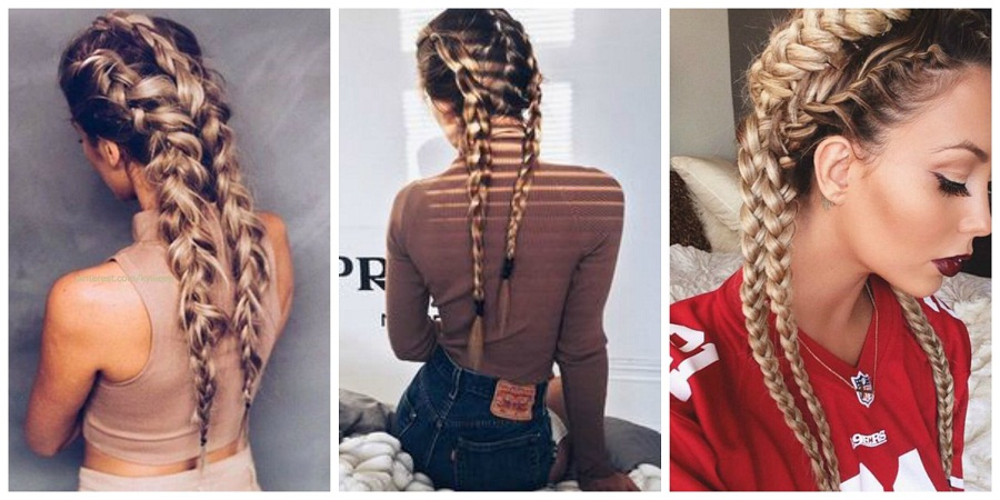 Hair braided trends in winter