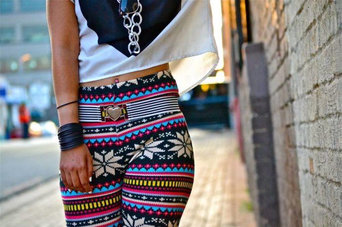 Fashionable in leggings