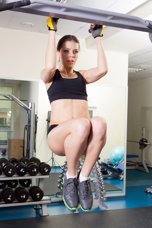 Hanging Knee Raise for abs