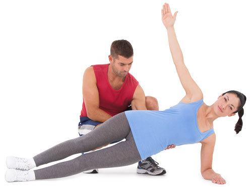 Side Plank ab exercise for women