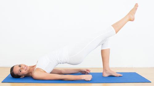 Single Leg Bridge for women abs