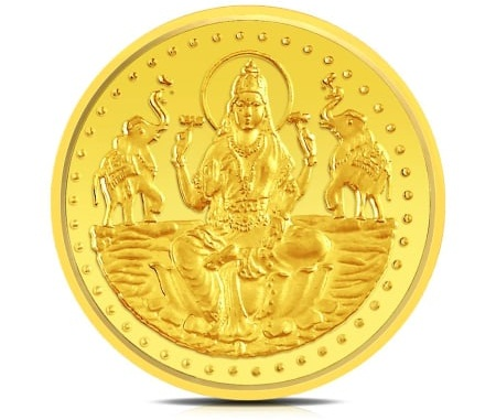 Lakshmi and Ganesha and Radha-Krishna gold coins for Gudi Padwa