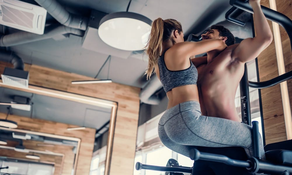 Strength Training Workout - Couple Kissing