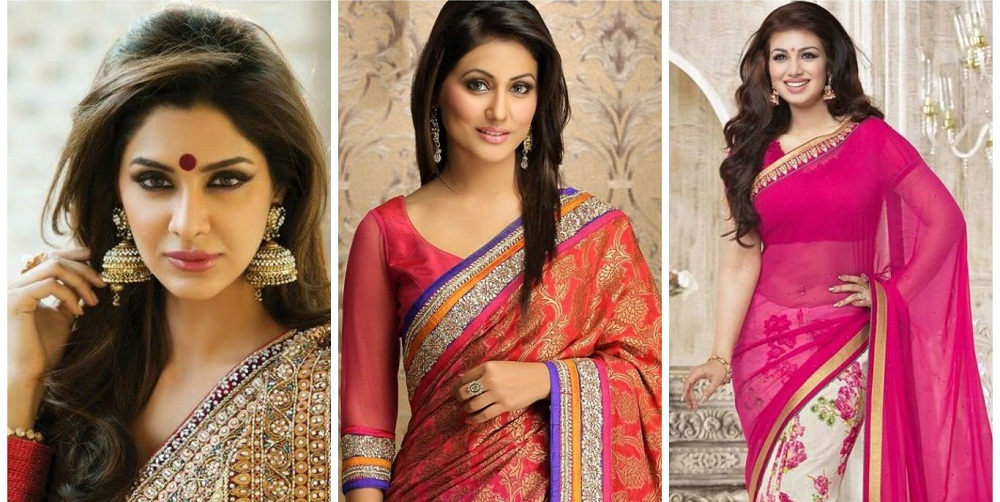 Right Hairstyle for Saree